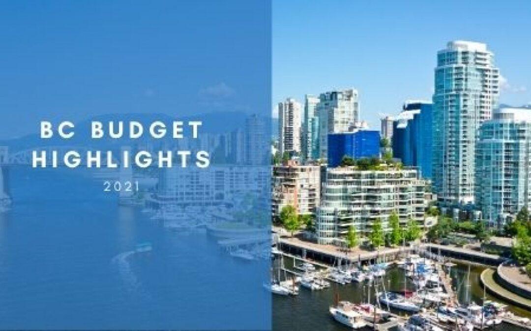 British Columbia 2021 Budget Highlights